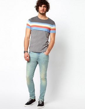 Image 4 ofASOS Stripe T-Shirt With Crew Neck