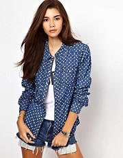 Only Polka Dot Denim Shirt