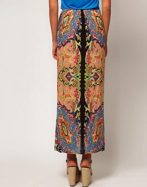 Image 2 ofWarehouse Paisley Maxi Skirt