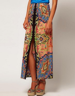 Image 4 ofWarehouse Paisley Maxi Skirt