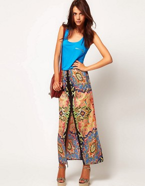 Image 1 ofWarehouse Paisley Maxi Skirt