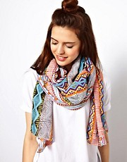 ASOS Aztec Print on Oversized Scarf