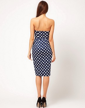 Image 2 ofASOS Pencil Dress In Spot Print