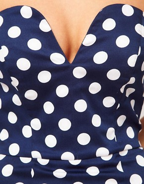 Image 3 ofASOS Pencil Dress In Spot Print