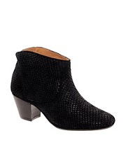 H by Hudson Mirar Black Heeled Ankle Boots