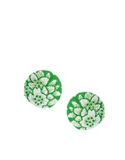 People Tree Recycled Sari Stud Earrings