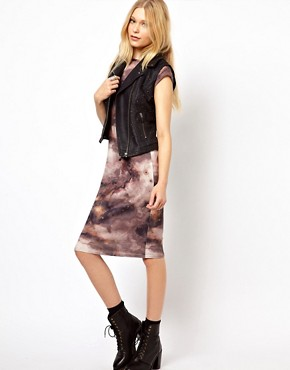 Image 4 ofRiver Island Leather Look Studded Gilet