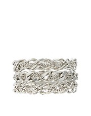 Pieces Magda Triple Row Chunky Chain Bracelet