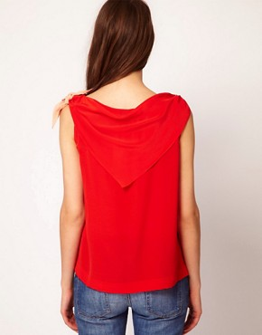 Image 2 ofSonia by Sonia Rykiel Crepe De Chine Scarf Top in Silk