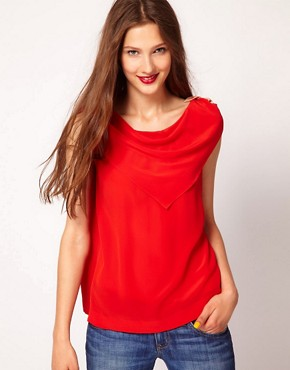 Image 1 ofSonia by Sonia Rykiel Crepe De Chine Scarf Top in Silk