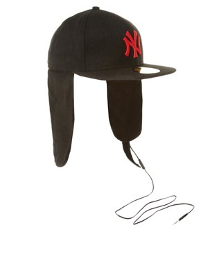 Image 1 ofNew Era Headphone Dogear NY Cap