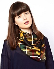 Barbour Equestrian Silk Square Scarf