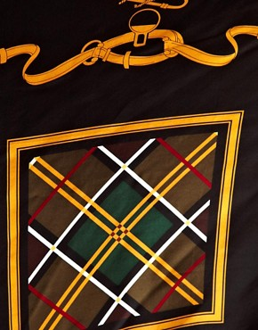 Image 2 ofBarbour Equestrian Silk Square Scarf