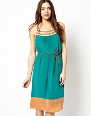 French Connection Strappy Dress With Chain Detailing