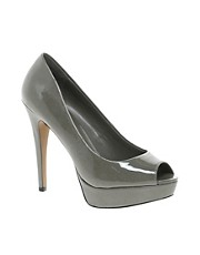 Mango Platform Peep Toe Heeled Shoe