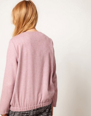 Image 2 ofASOS Fluffy Bomber Jacket