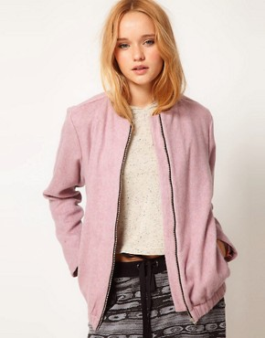 Image 1 ofASOS Fluffy Bomber Jacket