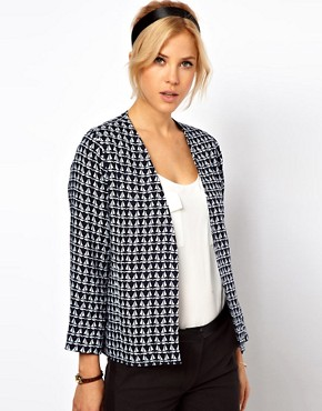 Image 1 of ASOS Blazer In Boat Print