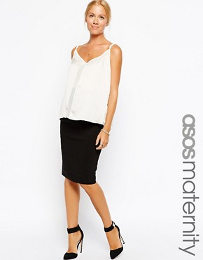 ASOS Maternity Midi Tailored Pencil Skirt