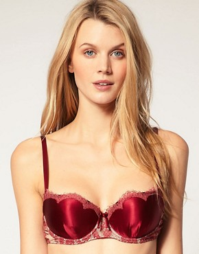 Image 1 ofShell BelleTease Silk Applique Bra