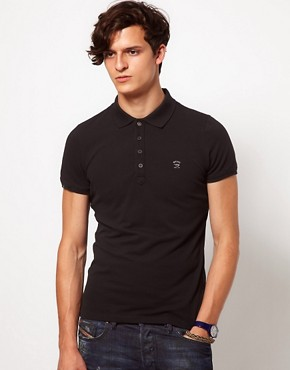 Image 1 ofDiesel Polo Shirt With Logo