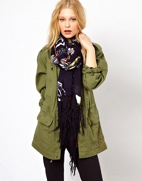 Image 1 ofRiver Island Oversize Zebra Long Scarf