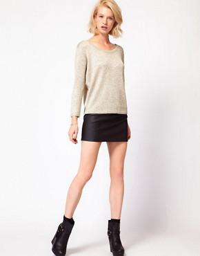 Image 4 ofASOS Woven Back Jumper