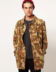 ASOS Trench With Camo Print