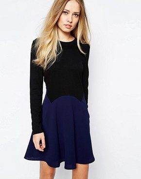 Whistles Jersey/Crepe Mix Dress