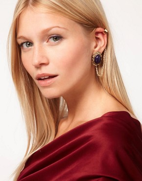 Image 1 ofASOS Filigree Stone Link Ear Cuff