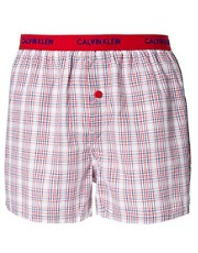 Calvin Klein  Slim Fit-Boxershorts aus Webstoff mit Karomuster