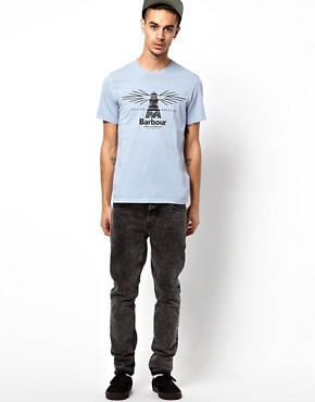 Image 4 ofBarbour T-Shirt with Beacon Print