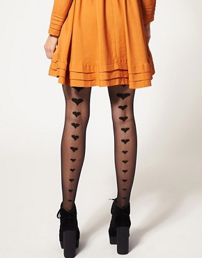 Image 1 of Gipsy Graduated Back Seam Hearts Tights