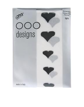 Image 2 of Gipsy Graduated Back Seam Hearts Tights