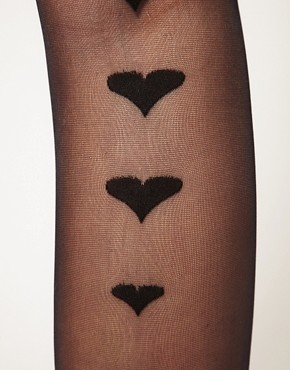 Image 3 of Gipsy Graduated Back Seam Hearts Tights