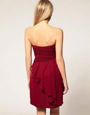 Image 2 ofASOS PETITE Exclusive Pleat Detail Drape Bandeau Dress
