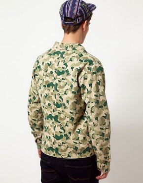 Image 2 of ASOS Camo Worker Jacket