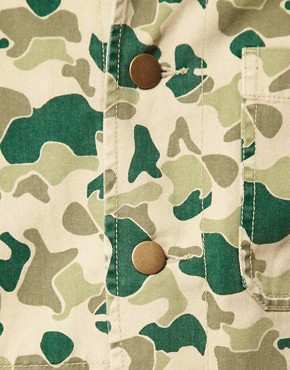 Image 3 of ASOS Camo Worker Jacket