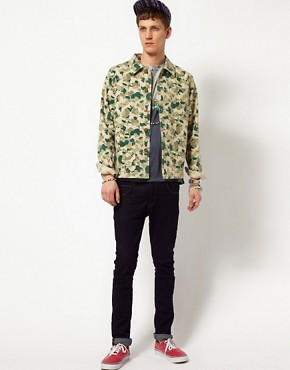 Image 4 of ASOS Camo Worker Jacket