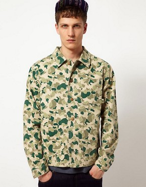 Image 1 of ASOS Camo Worker Jacket