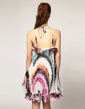 Image 2 ofForever Unique Printed Pleat Dress