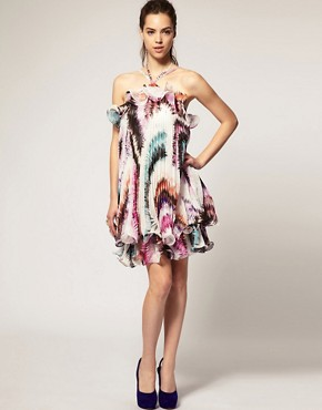 Image 4 ofForever Unique Printed Pleat Dress
