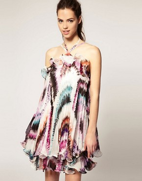 Image 1 ofForever Unique Printed Pleat Dress
