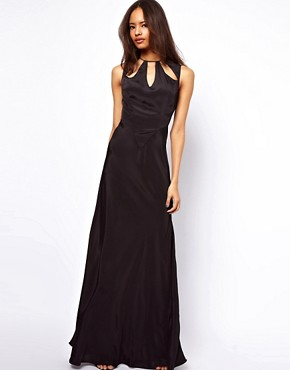 Image 1 ofASOS Maxi Dress with Cut Out Neck