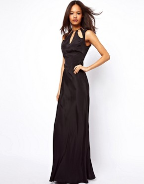 Image 4 ofASOS Maxi Dress with Cut Out Neck