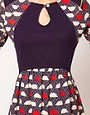 Image 3 ofAime by People Tree Organic Jersey Keyhole Hedgehog Dress