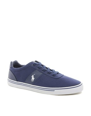 Image 1 ofPolo Ralph Lauren Hanford Canvas Trainers