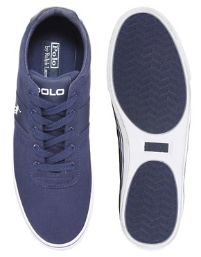 Image 3 ofPolo Ralph Lauren Hanford Canvas Trainers