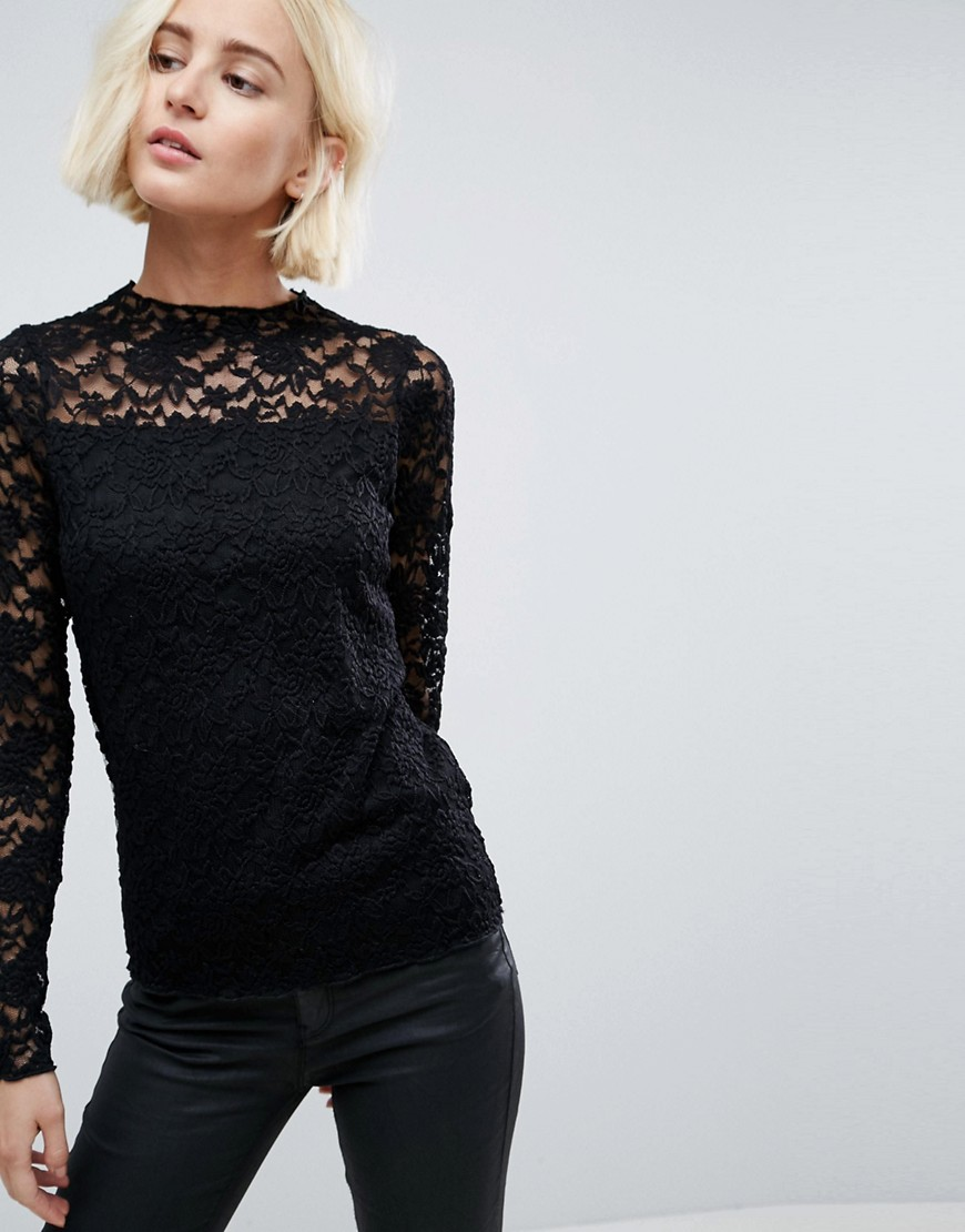 b.Young Lace Top - Black
