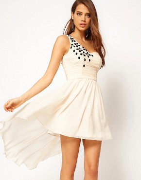 Image 1 ofRare Skater Dress with Jewel Embellishment